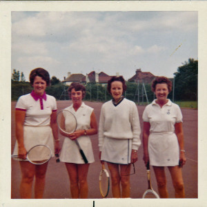 Finals Day 1974 Judy Poole, Margaret Sharpe, Mary Sidebottom, Noni Redman
